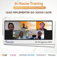 Lead implementer iso 20000-1 bank papua